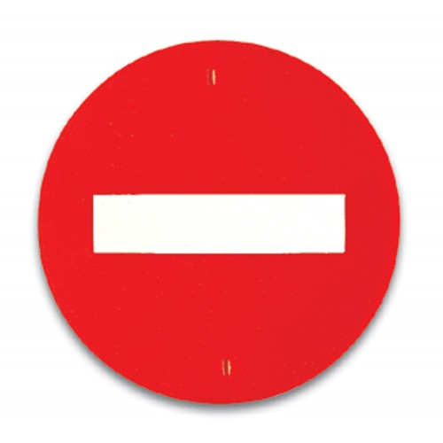 Traffic panel - No entry