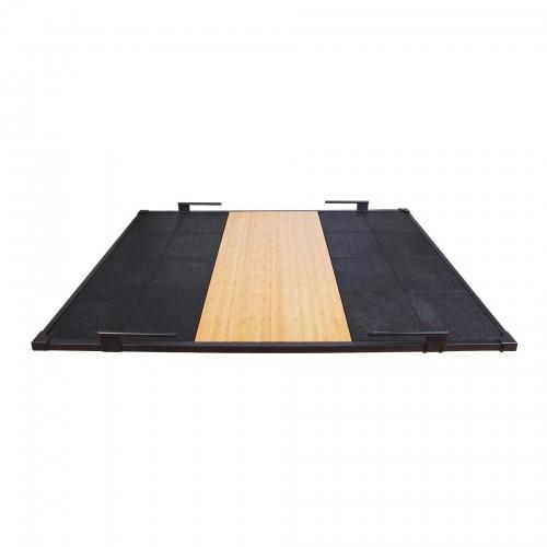 Plataforma de halterofilia con marco de acero