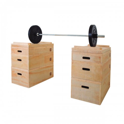 Wooden boxes for weightlifting workouts (Set of 2)