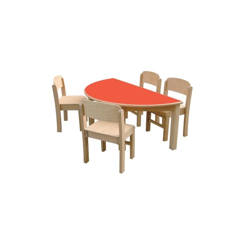 Mesa De Madera - Modelo 3 Semicírculo