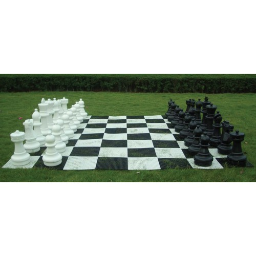 Chess And Checker Giant Board. In Nylon.