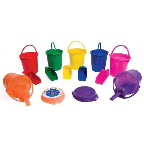 Beach Bucket With Sieve And Shovel