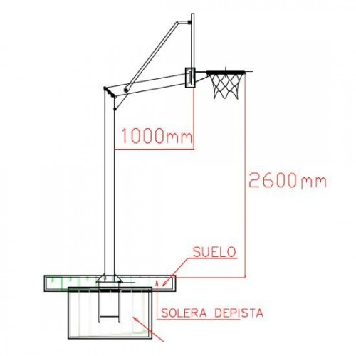Minibasketball set with tempered glass backboards